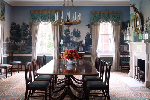 Newby Hall Dining Room ~ The Set Of Chairs Were Madethomas Mesmerizing Mansion Dining Rooms Review