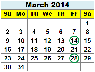 What Day Of The Week Are Tax Refund Deposited 2014