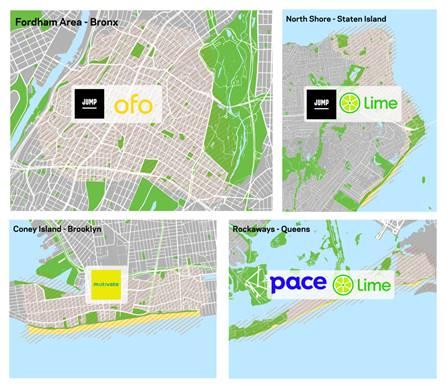 Bike Share Pilot Map
