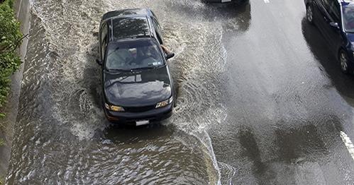 Flooding on FDR, NYC, NY